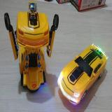 Spesifikasi Mainan Mobil Robot Transformer Deformation 2In1 Yellow No 8986 Murah