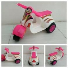 Mainan Motor Vespa Mini Anak 3 Roda