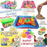 Promo Mainan Pasir Ajaib Kinetik Model Sand Play Sand Paket Jumbo 2 Kg Murah