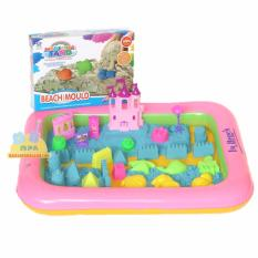 Harga Mainan Pasir Ajaib Kinetik Play Sand Magic Modeling Sand Beach Mould Dengan Beautiful Castle Dan Alas Balon Naila Asli