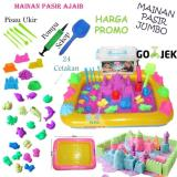 Jual Mainan Pasir Ajaib Kinetik Play Model Magic Sand Paket Lengkap 2Kg Jumbo Branded