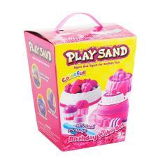 Obral Mainan Pasir Play Sand Birthday Cake Set Mainan Edukatif Anak Murah