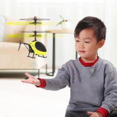 Mainan Pesawat Helikopter Terbang Drone Mainan Anak Sensor Tangan - Kuning