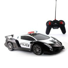 Mainan Remote Control Black Supercar Police