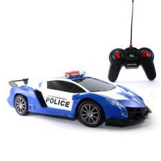 Mainan Remote Control Blue Lamborgini Police