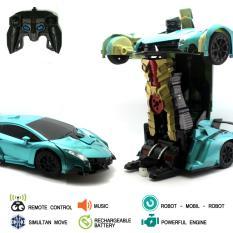 Mainan Remote Control RC Robot Transformer Metalic
