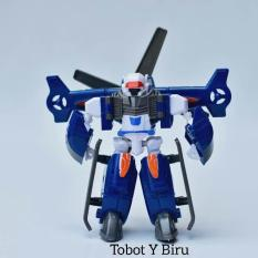 Mainan robot tobot mini bisa jadi mobil banyak variasi