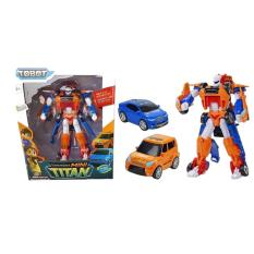Mainan Tobot Mini Titan 2 Cars Combine Original