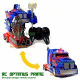 Mainan88 Rc Robot Transformers Optimus Prime Frekuensi 2 4G Terbaru