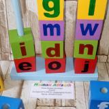 Jual Beli Online Mainanalfaqih Mainan Edukasi Anak Balok Susun Huruf Abjad Jumbo Warna Warni