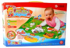 Mainananakbaby-  Farm Music Playmat Mainan Bayi