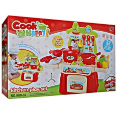 Mainananak Jakarta - Mainan Masak-Masakan Cook Happy Play Kitchen Set Murah Merah