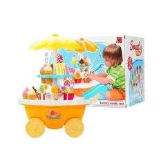 MAINNAN ES KRIM SWEET SHOP ICE CREAM LUXURY CANDY CART ORANGE