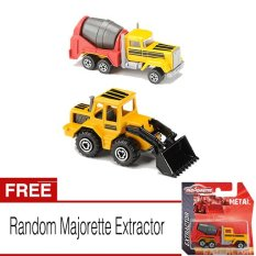 Review Majorette Extractor Cement Truck Front Loader Gratis Majorette Extractor Majorette Di Indonesia