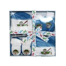 Mall BTM Kids - Dini Baby Collection Set Boks Hadiah Murah Isi Baju Bayi - Biru