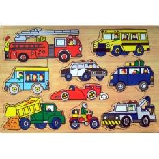 Malva Kayla Toys Puzzle Kayu Aneka Mobil