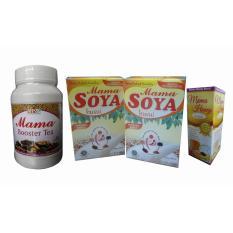 Mama Soya (2 Pcs) + Mama Booster Tea (1 Pcs) + Madu Busui (1 Pcs) - Paket Pelancar Asi Soya Herba N