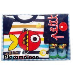 Mamimu Baby Gift Set Boys 3 Pcs Motif Ikan - Paket Pakaian Bayi Laki-Laki
