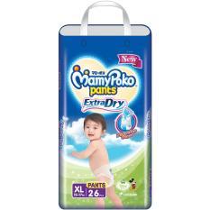 Toko Mamypoko Pants Extradry Popok Bayi Dan Anak Unisex Diapers Tipe Celana Size Xl 26 Pcs Lengkap