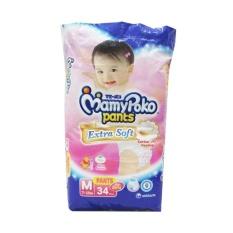 Beli Mamypoko Pants Extrasoft Popok Bayi Dan Anak Girls Diapers Tipe Celana Size M 34 Pcs 3 Pack 102 Pcs Banten