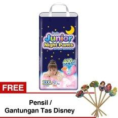 Jual Mamypoko Popok Junior Night Pants Xxxl 24 Girls Gratis Pensil Gantungan Tas Disney Mamypoko Branded