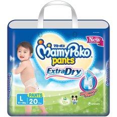 Beli Mamypoko Popok Pants Extra Dry L 20 Murah