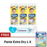 Harga Mamypoko Popok Pants Standard L 30 Isi 3 Exclusive Packaging Free Pants Extra Dry L 8 Lengkap