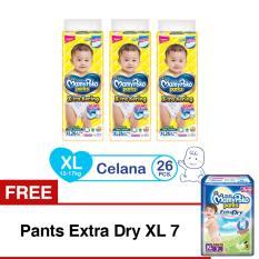Harga Mamypoko Popok Pants Standard Xl 26 Isi 3 Exclusive Packaging Free Pants Extra Dry Xl 7 Yang Murah