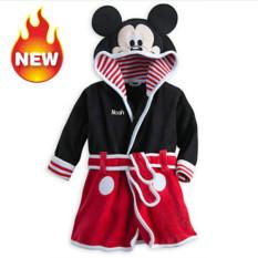 Toko Baby Bathrobe Anak Piyama Baby Homewear Hitam Online Tiongkok