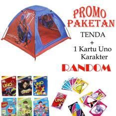Mao Camp Tent Spiderman + Uno Card Karakter