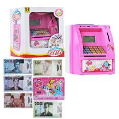 Mao Celengan ATM Little Pony + Uang Mainan