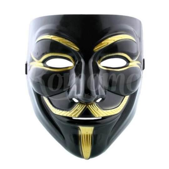 Jual Mask V For Vendetta Guy Fawkes Anonymous Hitam/Topeng Anonymous Black - 6366C6 - Original Asli - Amanda.store di Lazada   OmJoni.com