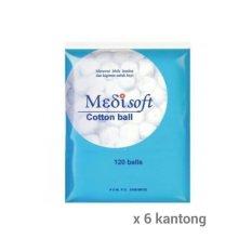 Jual Medisoft Cotton Balls Kapas Bulat Paket 6 Kantong 1 Kantong Isi 120 Kapas Bulat Murah Di Dki Jakarta