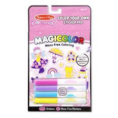 Melissa & Doug Magicolor Coloring Pad - Sticker Book Pink