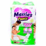 Spesifikasi Hot Offers Merries Pants Good Skin M34 Value Pack 1 Karton 4 Pcs Yg Baik