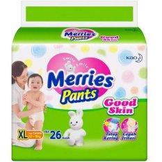 Beli Merries Pants Good Skin Popok Bayi Dan Anak Unisex Diapers Tipe Celana Size Xl 26 Merries Asli