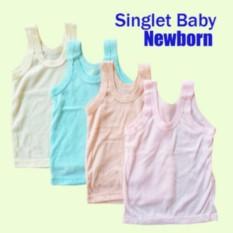 Mesh GROSIR Singlet Bayi Polos - Kaos Dalam Bayi Singlet - 12 pc