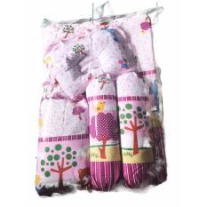 Mesh Kasur Bayi 5 in 1 - kasur , bantal , bantal peang , guling 2, motif random - baby bed