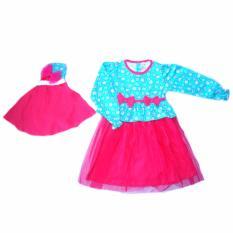 Mi angel Gamis Korea - Dress Muslim Ala Korea Untuk Bayi dan Anak - Dress Bayi Dress Muslim Dress Anak Baju Muslim Gamis Bayi