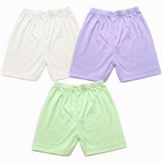 Harga Miabelle Baby Short Pants Ivory Ungu Hijau 3Pcs Baru Murah