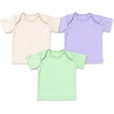 Tips Beli Miabelle Baby Tee Shoulder Neck Ungu Ivory Hijau 3 Pcs