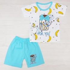 Miko Setelan Baju Anak Bayi Perempuan Baby Girl Lucu BANANA FOR YOU