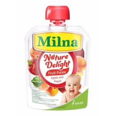 Milna Nature Delight Apple & Peach 80gr By Kalbe Home Delivery.