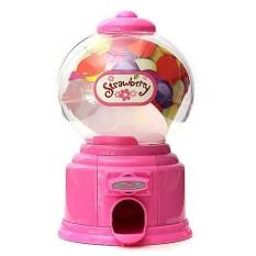 Mini Permen Mesin Dispenser Gumball Vending Mesin Koin Kotak Hadiah Anak Mainan Bayi # Merah Muda-Internasional