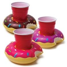 Mini Lucu Dapat Diisi Angin Pool Mengapung Drink Penahan Cangkir Alas Penahan untuk Mandi Mainan Renang Pool Pesta Pantai Warna: Kopi