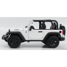 Spesifikasi Miniatur Jeep Wrangler Willys Rubicon 2014 Open Top Skala 18 Putih Terbaru