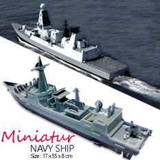 Miniatur Kapal Navy Army - Koleksi Unik Pajangan Hiasan Meja Rumah Cantik - Mainan Puzzle 3D Murah - Family Quality Time
