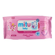 MITU BABY WIPES SOFTCARE PINK 50S