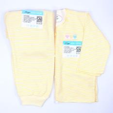 Miyo Baju Bayi Setelan Panjang Salur ( NewBorn ) - 1 SET