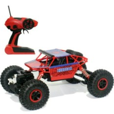 Mobil Remote Kontrol 4WD Rock Crawler Super Hero Theme Car Off-Road - Merah